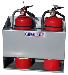 Cargopal CP550 Grey PowderCoat Fire Extinguisher Holder for Race Trailers-Shop