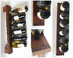 Personalized Wine Rack Rustic Wood Wall Wine by rusticcraftdesign