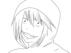 Jeff The Killer Anime Coloring Pages Creepypasta Valentino