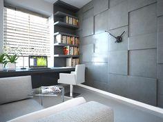 Pomysł na aranżację pokoju z biurkiem pod oknem - Magdalena Kidoń Architekt Kraków
