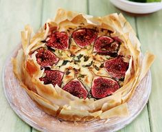 A savoury tart offset by sweet figs