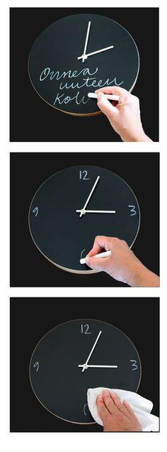 chalkboard clock from Finnish Muuto