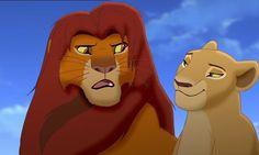 "Simba and Nala, Kiara's parents from ""The Lion King II: Simba's Pride."""