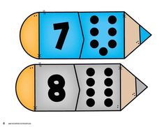 Back to School Number Matching - Kindergarten Math Centers by Kristin Edwards Numbers Preschool, Math Numbers, Preschool Math, Kindergarten Math, Apple Activities, Toddler Learning Activities, Counting For Kids, Math For Kids, Maths Paper