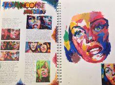- A Level Art Sketchbook -Sketch Book - A Level Art Sketchbook - Artist Research Page, Francoise Nielly Kunst Inspo, Art Inspo, Arte Gcse, Identity Artists, Kunst Portfolio, Gcse Art Sketchbook, A Level Art Sketchbook Layout, Art Diary, Portrait Sketches