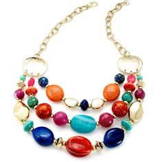Style&co. Necklace, Gold-Tone Multi-Color Bead Frontal Necklace and other apparel, accessories and trends. Browse and shop 8 related looks.
