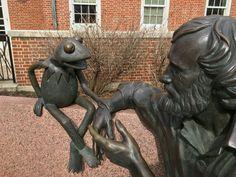 Jim Henson statue. U