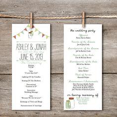 Handlettered Love / DIY Wedding Invitation Template / Instant ...