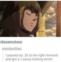 Oh, Armin. He looks so done with all this Titan shit