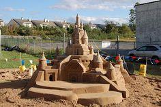 Team Building- Sand Castle Building Competition  www.EventKingsNY.com