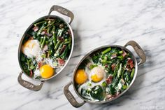 Baked eggs recipe   //   FOXINTHEPINE.COM