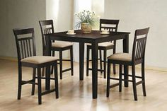 Finish your stylish kitchen with the Coaster Furniture Mix and Match 5 Piece Counter Height Dining Set . This five-piece set includes a square counter. Dining Room Furniture Sets, Dining Room Sets, Dining Room Table, Kitchen Furniture, Coaster Furniture, Kitchen Tables, Furniture Decor, Fine Furniture, Wood Table