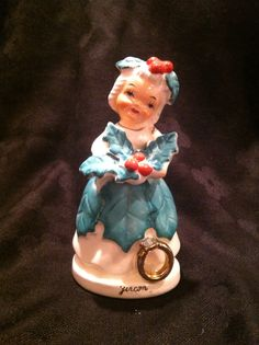Vintage December Girl Christmas Figurine