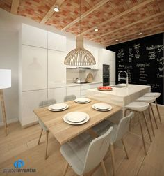 💕 💕 🤩 🤩 Project of reform of a kitchen in calle Caldern de Barcelona - Grupo Inventia Kitchen Inspiration Design, Kitchen Inspirations, Interior Design Kitchen, Kitchen Furniture Design, Kitchen Plans, Kitchen Room Design, Home Kitchens, Modern Kitchen Design, Kitchen Layout