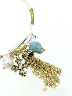 Antique Charm Bangle Bracelet | Helen's Jewels