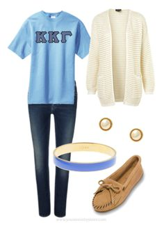 Some sort of combination of this look is my absolute favorite! I wear this at least once a week whether it is a lettered or a function t-shirt. It makes me feel better knowing that I am wearing my letters while still looking cute.