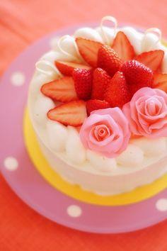 久々にデコレーションケーキ : nag