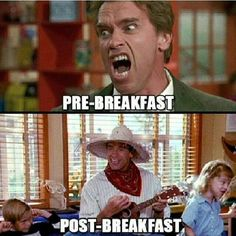pre and post breakfast