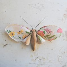 Textile butterfly by Mister Finch