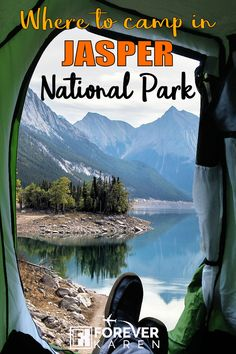 Planning a camping trip to Jasper National Park, Canada? Read this guide which covers the large sites like Whistler's Campground and Wapiti Campground, and the smaller ones like Jonas Creek and Icefields Tent. National Park Camping, Canada National Parks, Jasper National Park, Banff National Park, Canada Destinations, Best Campgrounds, Visit Canada, Canada Travel, Canada Trip