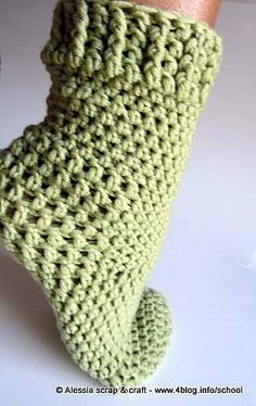 Ravelry: Crochet Socks pattern by Alessia Gribaudi Tramontana, just because crocheting socks has never entered my head until now. Slippers yes but not socks!