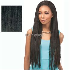Tue May 17, 2016 - #9: Senegal Collection Braided Lace Wig Senegal Box Braids  - Color 1B - Synthetic Braided Lace Front Wig