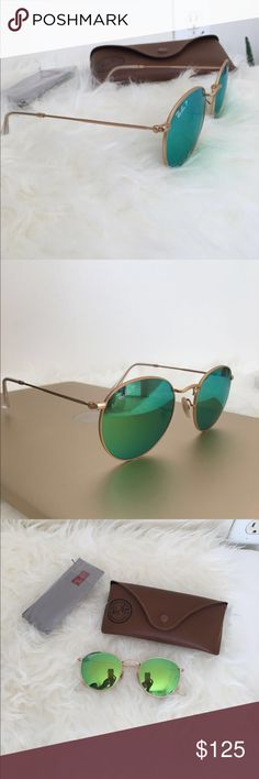 The Ray-Ban ® RB3447 sunglasses are totally retro Green round polarized brand new! Ray-Ban Accessories Glasses