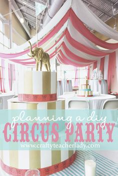 Planning a DIY Circus Party! Lots of inexpensive and creative ideas for a carnival or circus theme party! This was actually our PROM THEME this year and the kids LOVED it! Vintage Circus Party, Circus Theme Party, Vintage Carnival, Party Themes, Party Ideas, Diy Party Tent, Diy Tent, Carnival Tent, Carnival Birthday