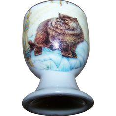 Vintage Collectible Porcelain Kitty Cat Egg Cup Crown Ashton New Brunswick Cat Egg, Egg Cups, Kettles, Cat Design, Fine Porcelain, Cookie Jars, Teapots, Snow Globes, Eggs