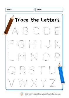 Alphabet Tracing Worksheets for Kindergarten - creativeworksheetshub