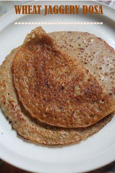 YUMMY TUMMY: Wheat Jaggery Pancakes Recipe / Kothumai Inipu Dosa Recipe / Vella Dosa Recipe