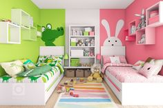 Twin girl bedrooms for toddler 28 www Oanuc com is part of Kids rooms shared - Twin Girl Bedrooms, Boy Girl Bedroom, Baby Bedroom, Girl Room, Twin Room, Room Baby, Sisters Shared Bedrooms, Bedroom For Twins, Sibling Bedroom