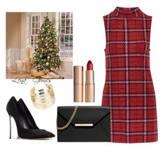 """""""Inspiração!"""" by lenagomes on Polyvore featuring Topshop, Casadei, MICHAEL Michael Kors, Charlotte Tilbury and WithChic"""