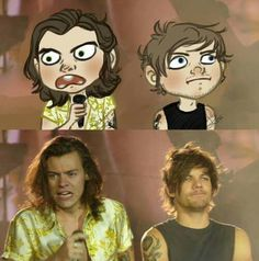 🤧 too freakin adorable 🥺 One Direction Fan Art, One Direction Cartoons, One Direction Memes, One Direction Pictures, Fanfic Larry Stylinson, Larry Shippers, Desenhos One Direction, Harry Styles Memes, 1d Imagines
