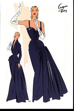 1952 French Fashion Plate #3