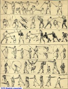 jedi fighting styles | picture from this website http://www.savate-canne.com/historique.html ..