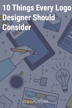 10 Things Every Logo Designer Should Consider - Dreamstime Graphic Design Tips, Logo Design, Stock Illustrations, Soul Art, Article Design, Website Layout, Drawing S, Industrial Design, Adobe