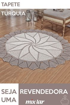 Irish Crochet Patterns, Crochet Diagram, Mantel Redondo, Bookshelves In Living Room, Rugs And Mats, Crochet Home Decor, Mandala, Outdoor Blanket, Crochet Rug Patterns