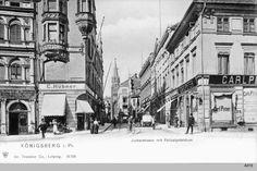 Königsberg, Junkerstraße, Geschäftshaus Carl Peter Zigarren Tabakwaren