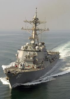 USS Winston S.Churchill, an Arleigh Burke-class guided missile destroyer of the United States Navy.