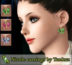 Nicole earrings by Tankuz - Sims 3 Downloads CC Caboodle