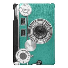 Teal Vintage Camera iPad Mini Case