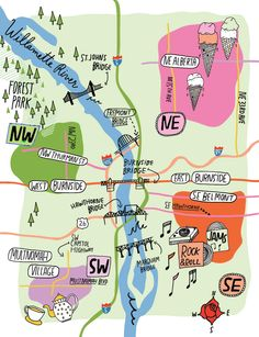 Kate Bingaman Burt - Map of Portland