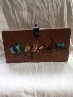 Vintage Enid Collins Box Bag- Bird Purse- Vintage Bag