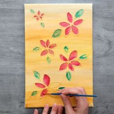 These simple paint crafts are genius!😍 These simple paint crafts are genius! Diy Arts And Crafts, Creative Crafts, Home Crafts, Fun Crafts, Paper Crafts, Leaf Crafts, Diy For Kids, Crafts For Kids, Mothers Day Crafts