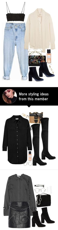 """""""NYFW Style Inspo"""" by samikayy76 on Polyvore featuring Levi's, Gianvito Rossi, Yves Saint Laurent, Topshop, Alexander McQueen and ADAM"""