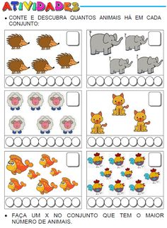 ATIVIDADES PARA EDUCADORES: 1º Ano - CONTANDO ANIMAIS