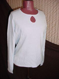 Designers Originals Blue Sweater Petite Medium NWT NEW Office Career Soft #designeroriginals #Pullover