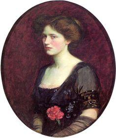ART BLOG: J. W. Waterhouse : Portrait of Mrs. Charles Shreib...