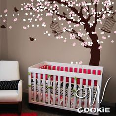 Cherry Blossom Tree  - Nursery Wall Decal. via Etsy.